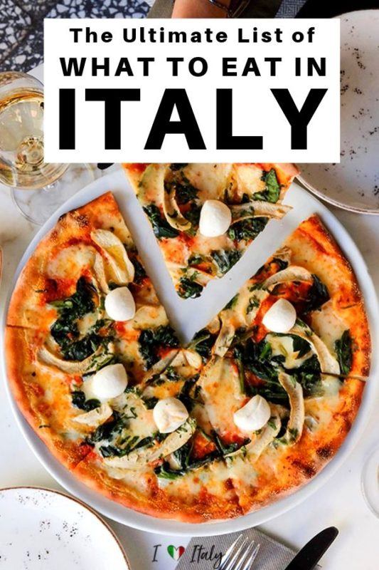 Wondering what to eat in Italy? This Italian food list will get you started and give you all the knowledge you need to eat your way through the country.